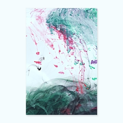 Ocean Ink - Alcohol Ink Abstract Modern - Poster 16 x 24 (40x60 cm)
