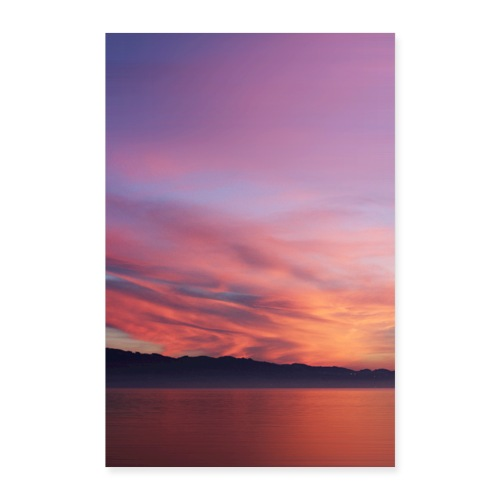 Sundown at Lake of Constance - Poster 40x60 cm