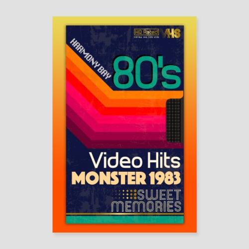 VHS Kassette - Poster 40x60 cm