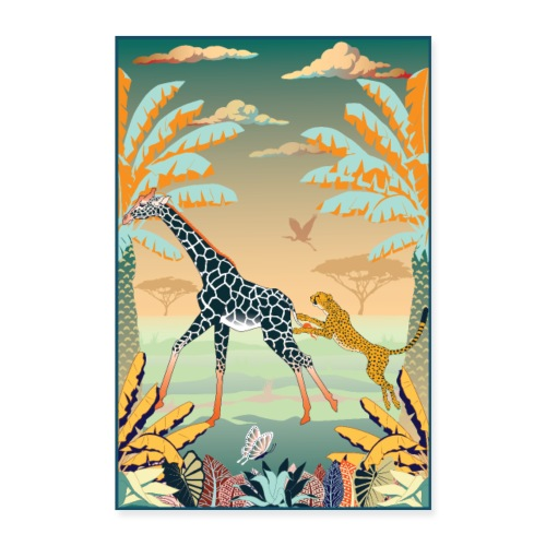 Poster Chasse africaine - Poster 40 x 60 cm