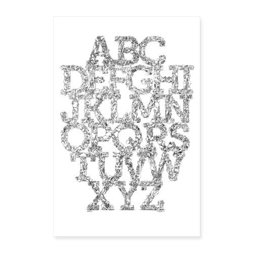 The FRTZN Alphabet Condensed - Poster 40x60 cm