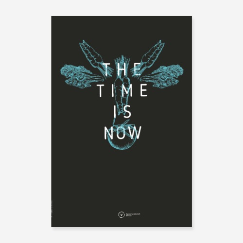 Poster The Time Is Now (Cow Edition) - Poster 40x60 cm