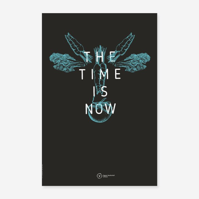 "Poster ""The Time Is Now"" (Cow Edition)"