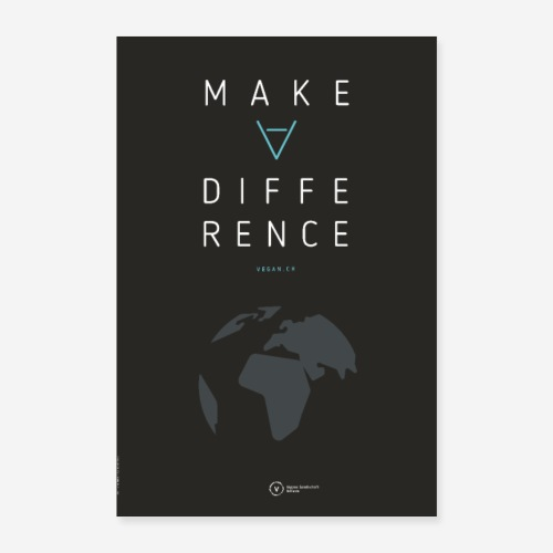 Poster Make A Difference (Earth Edition) - Poster 40x60 cm