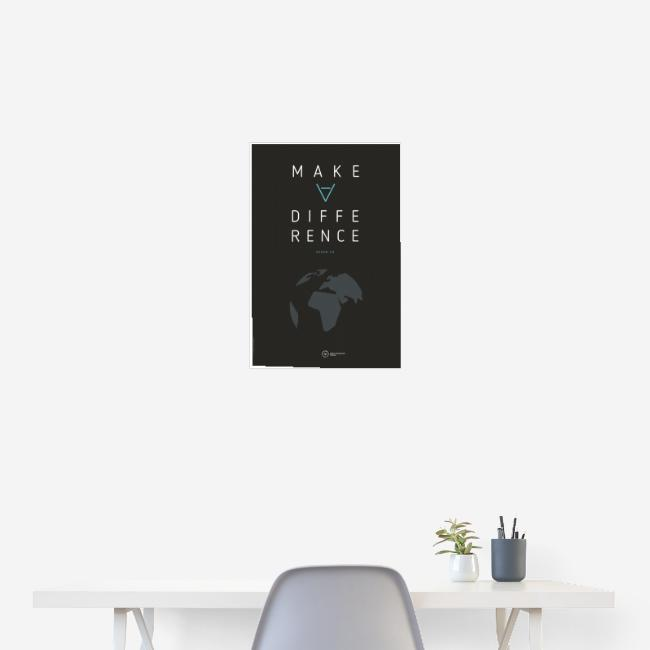 """Poster """"Make A Difference"""" (Earth Edition)"""