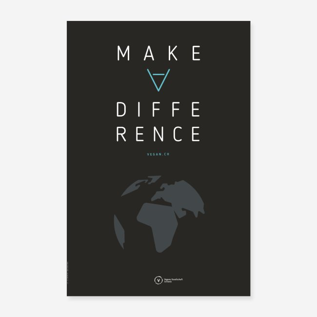 "Poster ""Make A Difference"" (Earth Edition)"