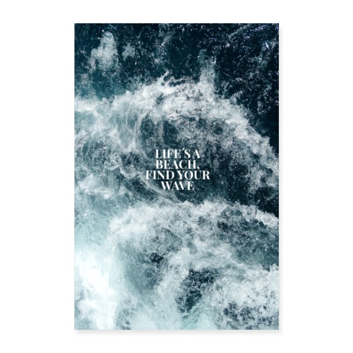 Wave Poster - Poster 40x60 cm