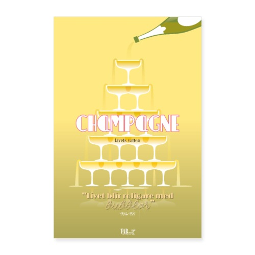 Champagne poster - Poster 40x60 cm