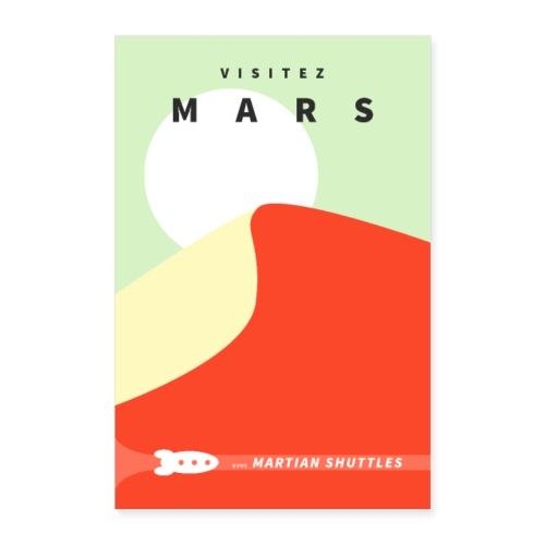 Poster Visitez Mars - Poster 40 x 60 cm