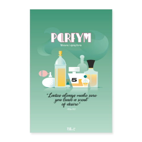 Poster Parfym - Poster 40x60 cm