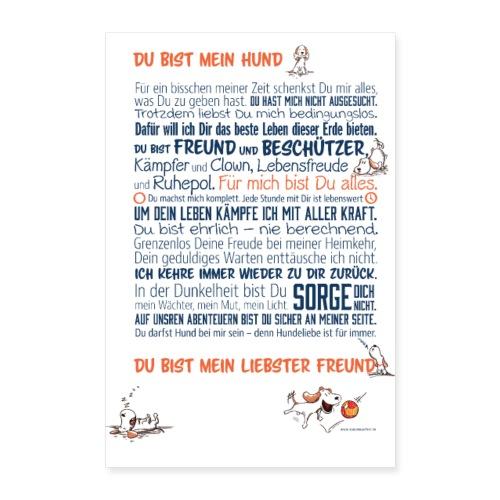 Das Hundemanifest - Jetzt als Poster - Poster 40x60 cm