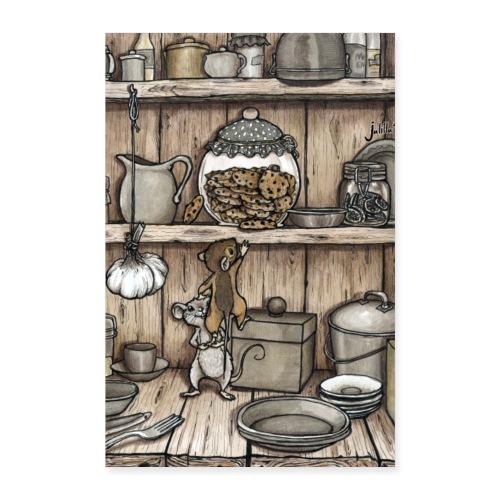 Mäuse und Keksglas - Poster 40x60 cm
