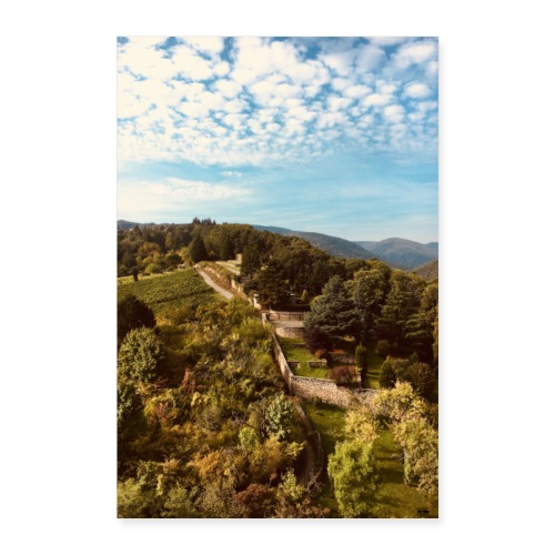 Pfalz - Pfälzer Wald - Mauer/ Events&Reisen Poster - Poster 40x60 cm