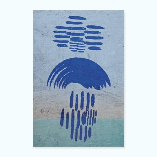 Nach Dem Regen - minimalistisches Aquarell - Poster 16 x 24 (40x60 cm)