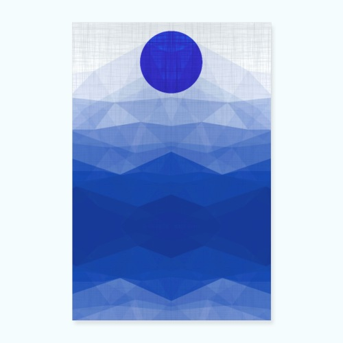 Ein Tag Am Meer Minimalismus Aquarell - Poster 16 x 24 (40x60 cm)
