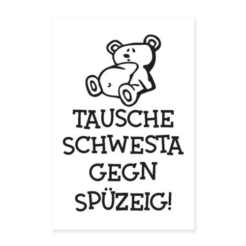 Vorschau: Tausche gegen Spüzeig - Poster 40x60 cm