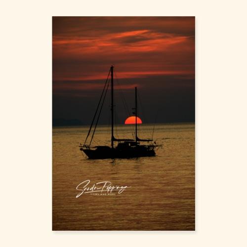 sailingboat - Poster 16 x 24 (40x60 cm)