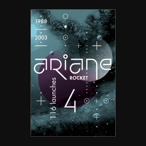 ARIANE 4 - Space void - Poster 16 x 24 (40x60 cm)