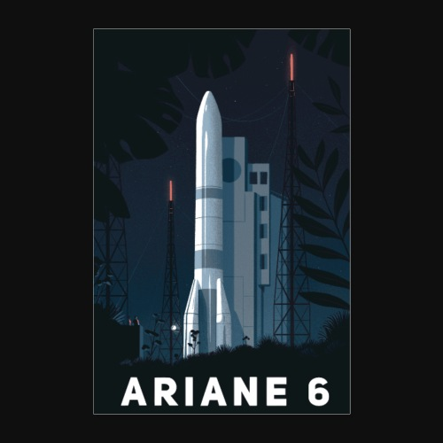 Ariane 6 - At night By Tom Haugomat - Poster 16 x 24 (40x60 cm)
