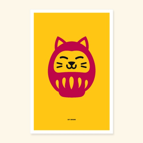 Cat Daruma - Poster 16 x 24 (40x60 cm)