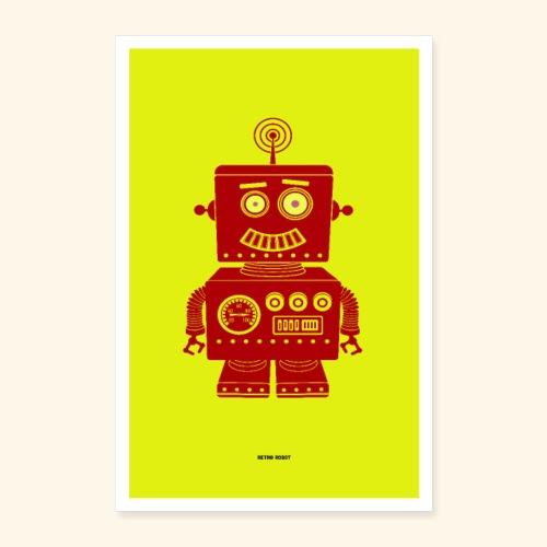 Retro Robot - Poster 16 x 24 (40x60 cm)