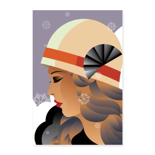 Art Déco | Femme hivernale - Poster 40 x 60 cm