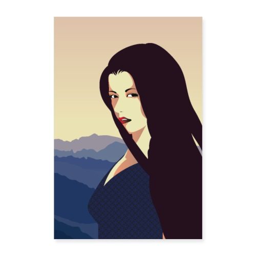 Art Déco | Regard de femme - Poster 40 x 60 cm