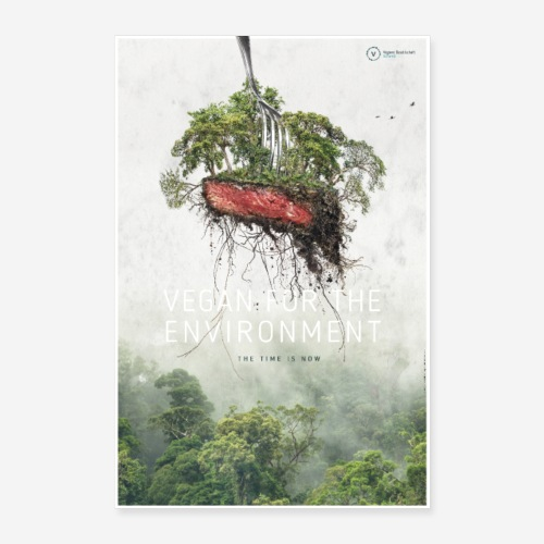 Poster Vegan for the environment - Poster 40x60 cm
