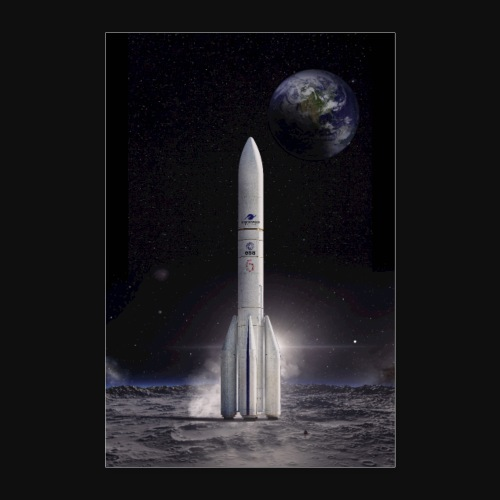 Ariane reaches for the Moon - Poster 16 x 24 (40x60 cm)