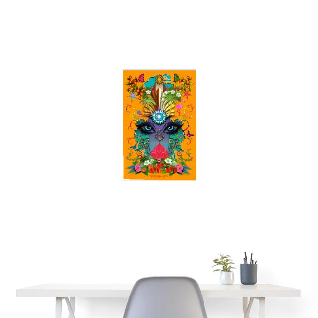 Poster - Summer Time - couleur orange