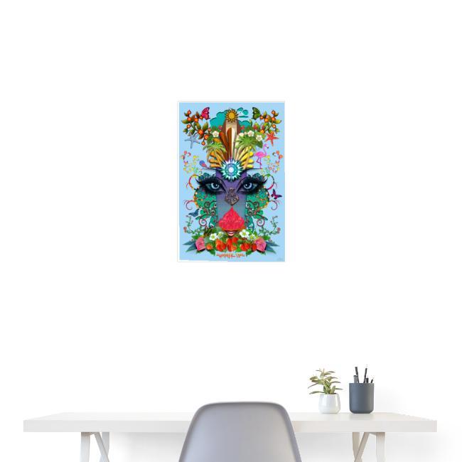 Poster - Summer Time - couleur bleu azur