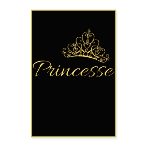 Poster - Princesse couleur or - Poster 40 x 60 cm