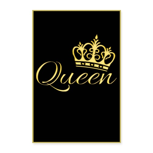 Poster - Queen couleur or - Poster 40 x 60 cm