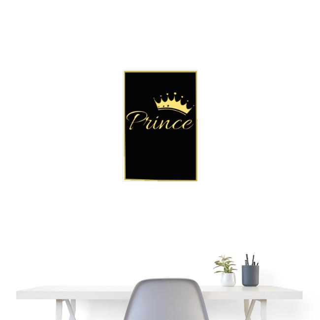 Poster - Prince couleur or