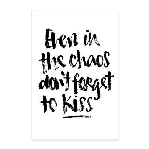 008814 brushmeetspaper Chaos Kiss 60x90 - Poster 40x60 cm