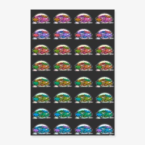Kebabs - FondNoir - Poster 40 x 60 cm