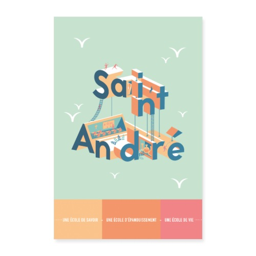 Poster Vie À Saint André 107 - Poster 40 x 60 cm