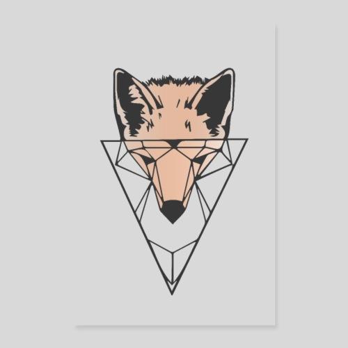 Fuchs Geometrie hell - Poster 40x60 cm