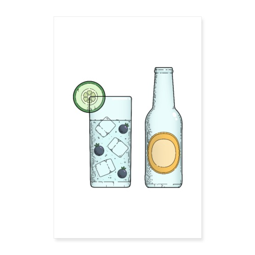 Gin & Tonic - Poster 40x60 cm