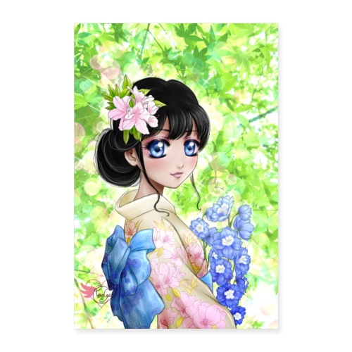 Amina in Japan poster - Poster 40 x 60 cm