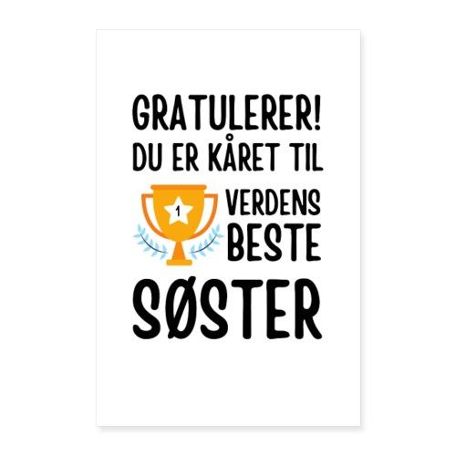 Verdens beste søster - Poster 40x60 cm