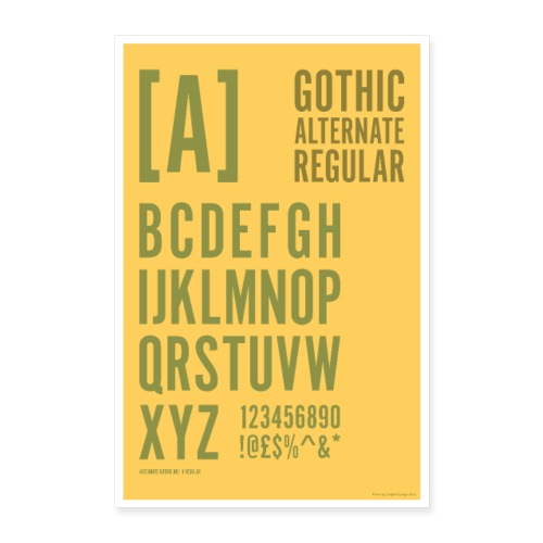 Gothic Alternate Regular Typography Poster - Poster 16 x 24 (40x60 cm)