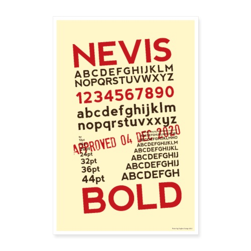 Nevis Bold Typography Poster - Poster 16 x 24 (40x60 cm)