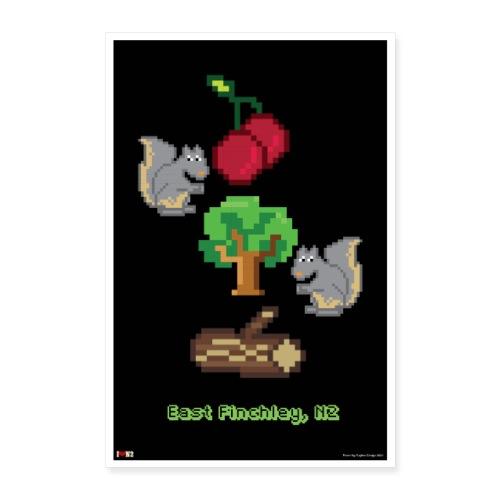 Cherry Tree Wood 8 Bit - Poster 16 x 24 (40x60 cm)