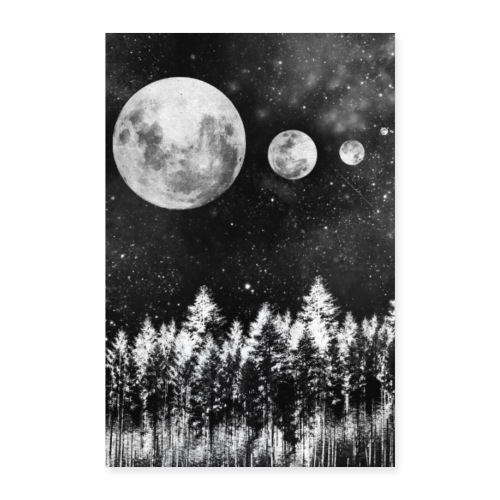Lunar Moons - Poster 40x60 cm