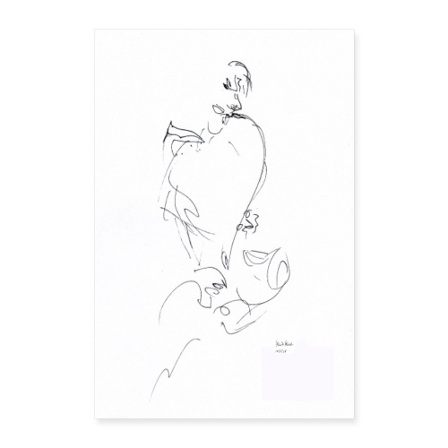 POSTER - SAXOPHONIST - Poster 40x60 cm