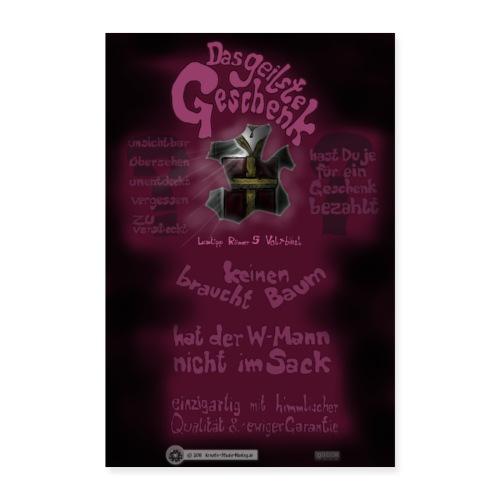 Design Das geilste Geschenk B Seite - Poster 40x60 cm