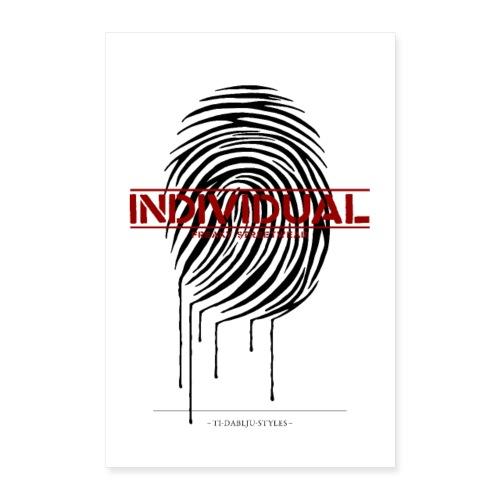 Poster individual black - Poster 40x60 cm