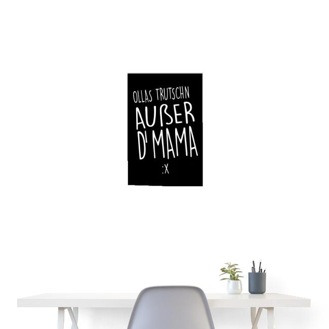 Vorschau: Ollas Trudschn außer d'Mama - Poster 40x60 cm