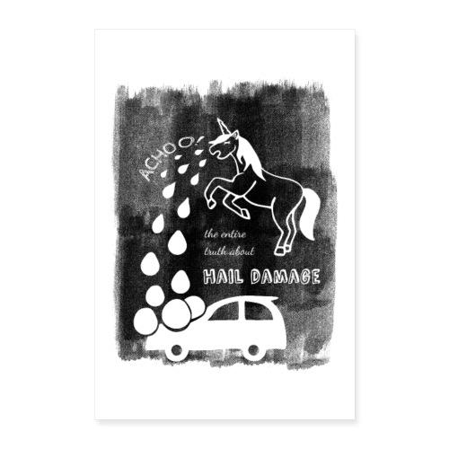 Hagelschaden Poster - Poster 40x60 cm